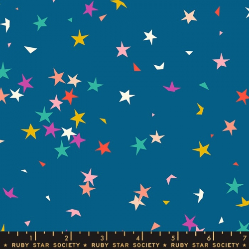 MODA FABRICS - Ruby Star Society - Pop - Blue Raspberry - Stars