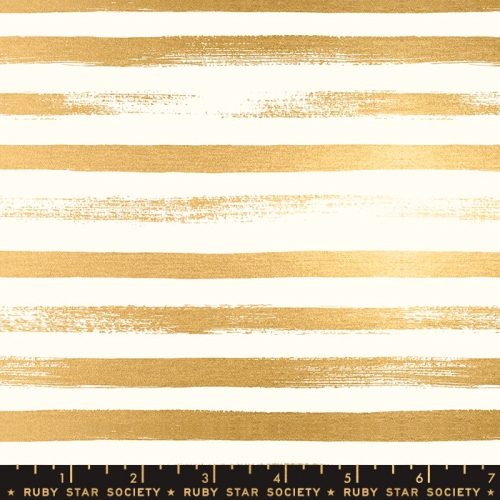 MODA FABRICS - Ruby Star Society - Zip - Gold - Metallic