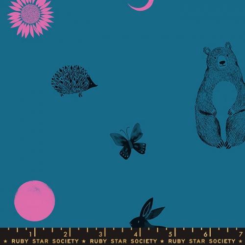 MODA FABRICS - Ruby Star Society - Crescent - Sarah Watts - Teal
