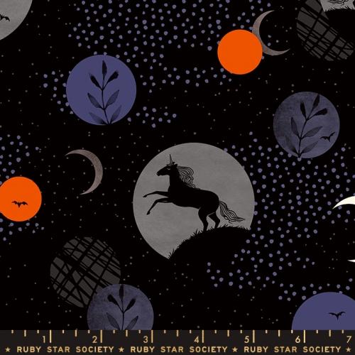 MODA FABRICS - Ruby Star Society - Crescent - Sarah Watts - Black