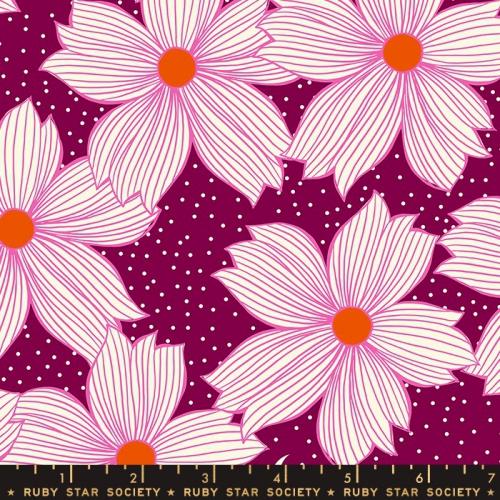 MODA FABRICS - Ruby Star Society - Crescent - Sarah Watts - Purple Velvet