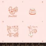 MODA FABRICS - Ruby Star - Purl Charms - Pale Pink