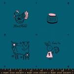 MODA FABRICS - Ruby Star - Purl Charms - Teal