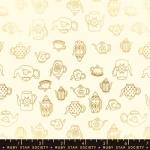 MODA FABRICS - Ruby Star - Purl Tea Time - Shell - Metallic