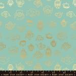 MODA FABRICS - Ruby Star - Purl Tea Time - Water - Metallic