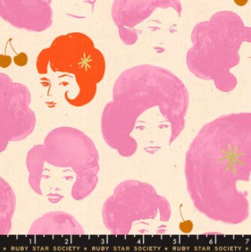 MODA FABRICS - Ruby Star - Darlings - Metallic - Pink