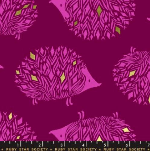 MODA FABRICS - Ruby Star - Darlings - Metallic - Purple Velvet
