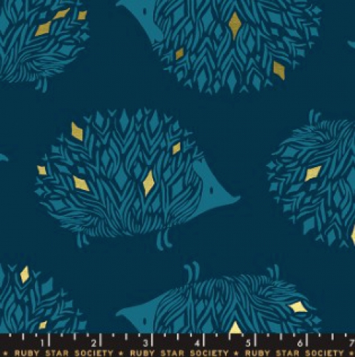 MODA FABRICS - Ruby Star - Darlings - Metallic - Dark Teal