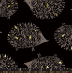 MODA FABRICS - Ruby Star - Darlings - Metallic - Black