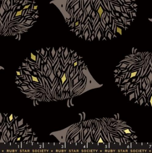 MODA FABRICS - Ruby Star - Darlings - Metallic - Black
