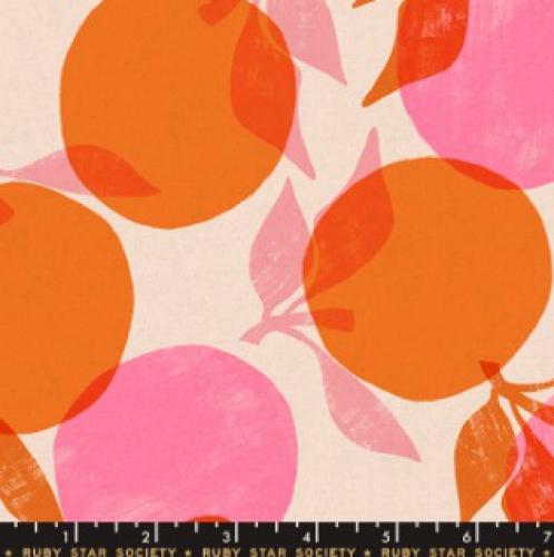 MODA FABRICS - Ruby Star - Cotton Linen Canvas 2019 Orange