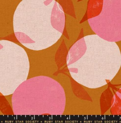 MODA FABRICS - Ruby Star - Cotton Linen Canvas 2019 Caramel