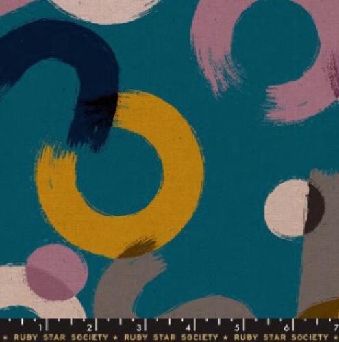 MODA FABRICS - Ruby Star - Cotton Linen Canvas 2019 Teal