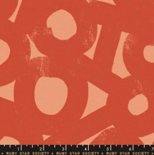 MODA FABRICS - Ruby Star - Cotton Linen Canvas 2019 Persimmon