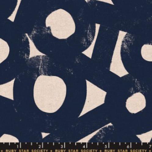 MODA FABRICS - Ruby Star - Cotton Linen Canvas 2019 Navy
