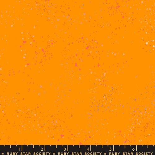 MODA FABRICS - Ruby Star - Speckled New - Metallic - Clementine