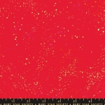 MODA FABRICS - Ruby Star - Speckled New - Metallic - Scarlet