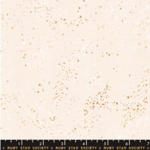 MODA FABRICS - Ruby Star - Speckled - Metallic - White Gold