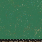 MODA FABRICS - Ruby Star - Speckled - Metallic - Emerald Green