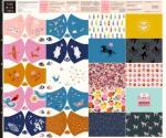 MODA FABRICS - Ruby Star Society - PANEL - Face Mask Panel - PL458-