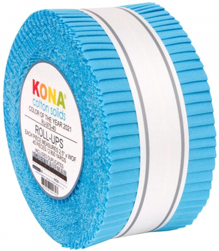 Kaufman - Kona Horizon Color of the Year 2021 2.5 Inch Roll Up 40 pcs