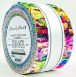 Kaufman - Painterly Petals 2.5 Inch Roll Up 40 pcs