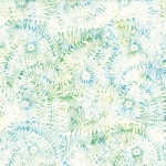 HOFFMAN - Batik - Floral Leaf - Ocean - K75147-