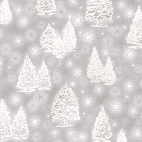 KAUFMAN - Winter's Grandeur - Silver - SRKM-16581-186