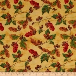 FABRI-QUILT, INC - Golden Harvest Leaves - Yellow 11230891