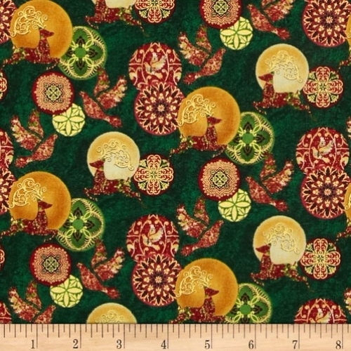 Skinny - SK2685- 7/8 yds - PAINTBRUSH STUDIO - Peace On Earth - Dove/Deer Green