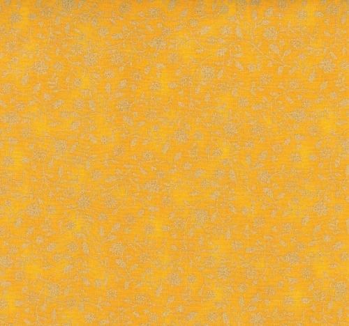 FABRI-QUILT, INC - Christmas Basics - Tonal Holly Mustard 10336557