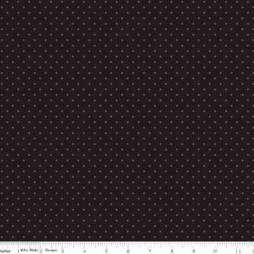 RILEY BLAKE - Delilah - Swiss Dot Black Sparkle