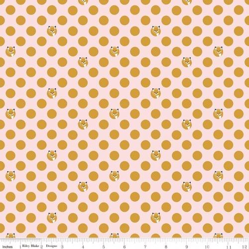 RILEY BLAKE - Fox Farm - Dots - Metallic - Pink Sparkle - FB8244-
