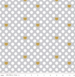 RILEY BLAKE - Chloe And Friends - Cat Dot Sparkle Gray - Metallic