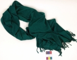 Turquoise Bazaar Rayon Scarf by Studio M