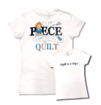 White Small Cut Piece Press & Quilt T-Shirt