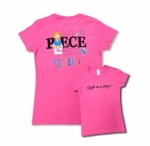Clearance - Pink Small Cut Piece Press & Quilt T-Shirt