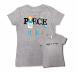 Gray Small Cut Piece Press & Quilt T-Shirt