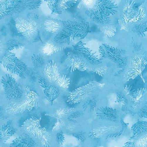 KAUFMAN - Winter's Grandeur Metallic 7 - Sky