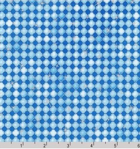KAUFMAN - Winter's Grandeur 6 - Frost - Metallic - Blue