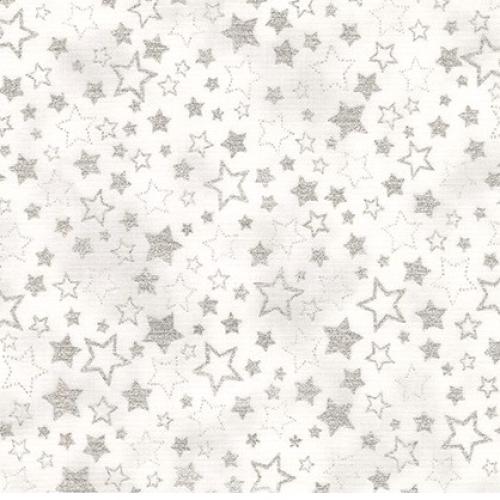 KAUFMAN - Winter's Grandeur Metallic 7 - Silver