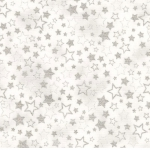 KAUFMAN - Winter's Grandeur Metallic 7 - Silver