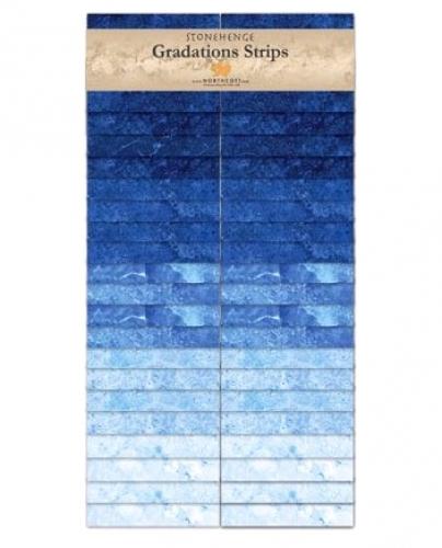 Northcott - Brights Indigo Stonehenge Gradations Strips