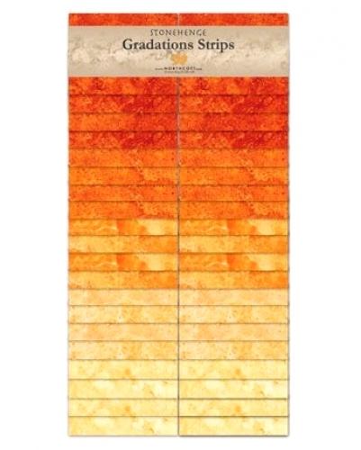 Northcott - Brights - Sunglow Stonehenge Gradations Strips