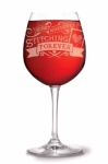 Stitching Forever Wine Glass by Stitch Happy
