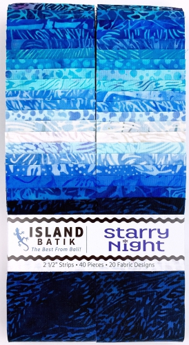 Island Batiks - Starry Night 2.5 Inch Strip Pack
