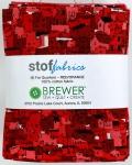 Stof - Red Orange Fat Quarter Bundle 9pk