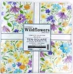 Kaufman - Flowerhouse: Wildflowers Ten Inch Squares 42 pcs