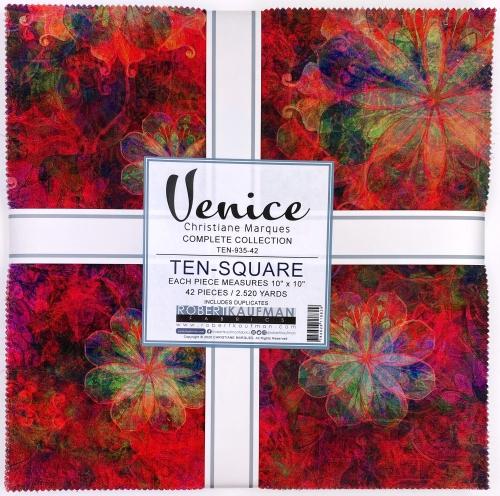 Kaufman - Venice Ten Inch Squares 42 pcs