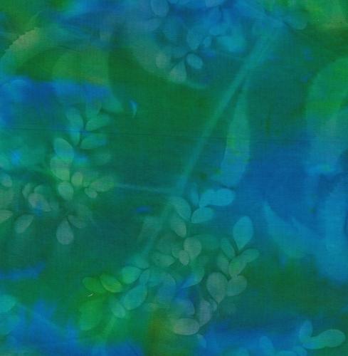 BATIK TEXTILES - Batik - Green/Aqua Sunprint - K75012-